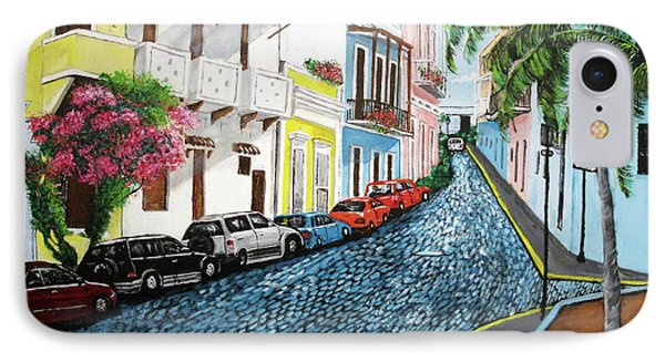 Colorful Old San Juan Phone Case by Luis F Rodriguez