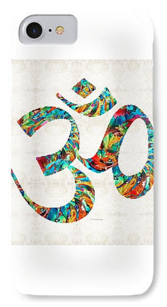 Colorful Om Symbol - Sharon Cummings IPhone Case