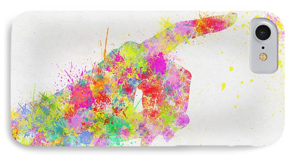 Colorful Painting Of Hand Pointing Finger IPhone Case by Setsiri Silapasuwanchai