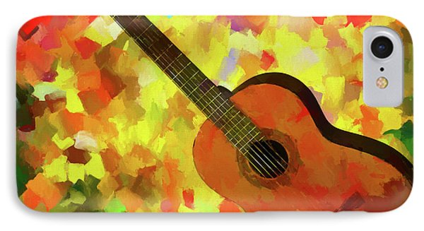 Colorful Palette Knife Guitar IPhone Case by Dan Sproul