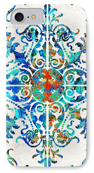 Colorful Pattern Art - Color Fusion Design 6 By Sharon Cummings IPhone Case by Sharon Cummings