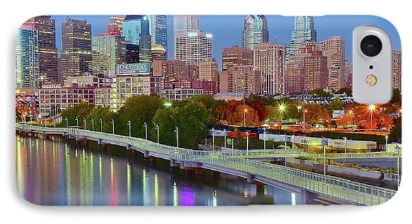 Colorful Philly Lights IPhone Case by Frozen in Time Fine Art Photography