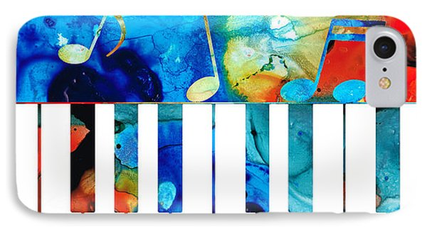 Colorful Piano Art By Sharon Cummings IPhone Case by Sharon Cummings