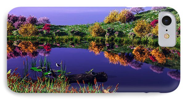 Colorful Pond IPhone Case by Walter Colvin