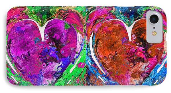Colorful Pop Hearts Love Art By Sharon Cummings IPhone Case by Sharon Cummings