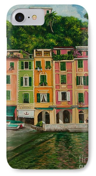 Colorful Portofino Phone Case by Charlotte Blanchard