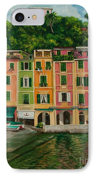 Colorful Portofino IPhone Case by Charlotte Blanchard