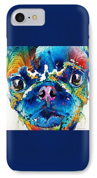 Colorful Pug Art - Smug Pug - By Sharon Cummings IPhone Case