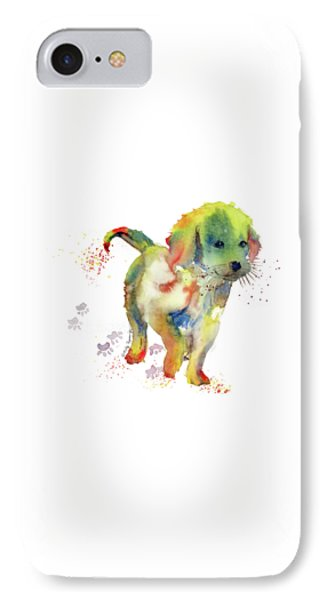 Colorful Puppy Watercolor - Little Friend IPhone Case by Melly Terpening