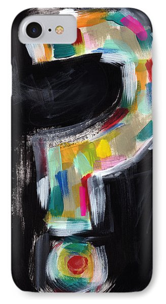 Colorful Questions- Abstract Painting IPhone Case by Linda Woods