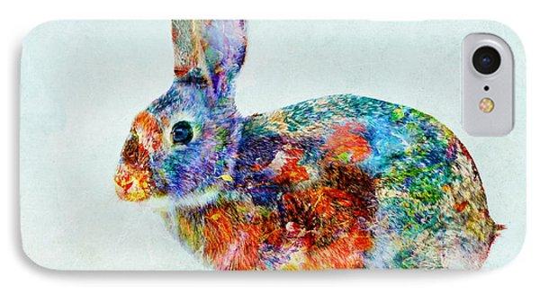 Colorful Rabbit Art IPhone Case by Olga Hamilton