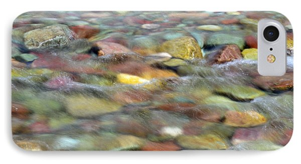 Colorful Rocks In Two Medicine River In Glacier National Park IPhone Case