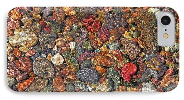 Colorful Rocks In Stream Bed Montana Phone Case by Jennie Marie Schell