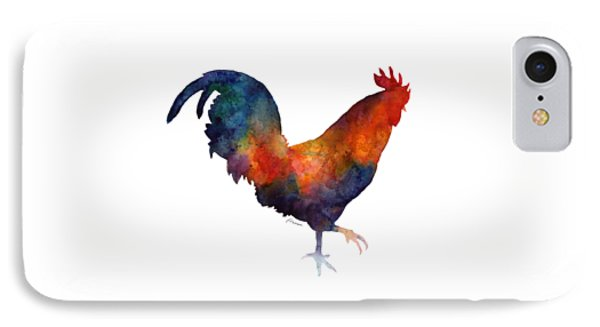 Colorful Rooster IPhone Case by Hailey E Herrera