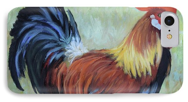 Colorful Rooster Print IPhone Case by Cheri Wollenberg