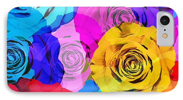 Colorful Roses Design IPhone Case by Setsiri Silapasuwanchai