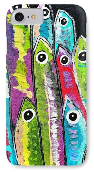Colorful Sardines IPhone Case by Scott D Van Osdol