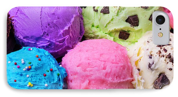 Colorful Scoops Of Ice Cream IPhone Case by Garry Gay