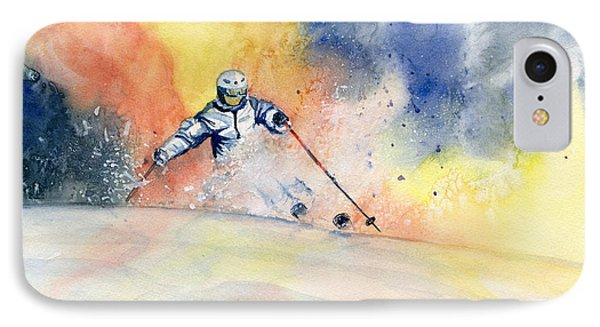 Colorful Skiing Art 2 IPhone Case by Melly Terpening