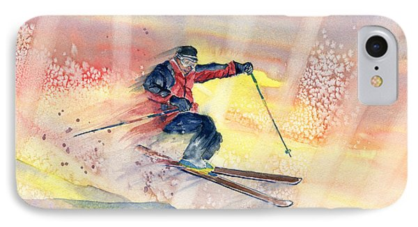 Colorful Skiing Art IPhone Case by Melly Terpening