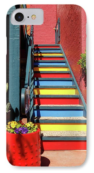 IPhone Case featuring the photograph Colorful Stairs by James Eddy