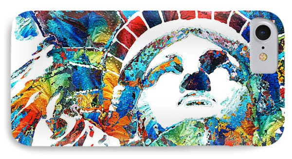Colorful Statue Of Liberty - Sharon Cummings IPhone Case by Sharon Cummings
