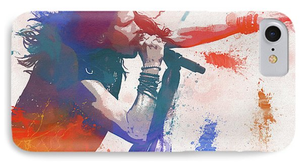 Colorful Steven Tyler Paint Splatter IPhone Case