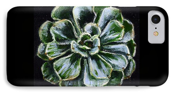 IPhone Case featuring the painting Colorful Succulent by Sandra Estes