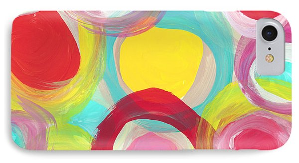 Colorful Sun Circles IPhone Case by Amy Vangsgard