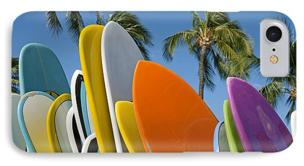 Colorful Surfboards Phone Case by Ron Dahlquist - Printscapes