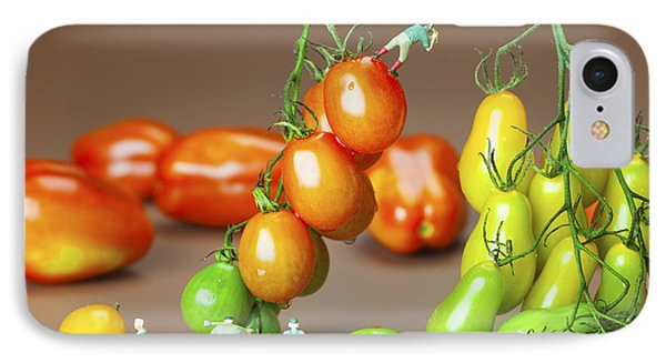 IPhone Case featuring the photograph Colorful Tomato Harvest Little People On Food by Paul Ge
