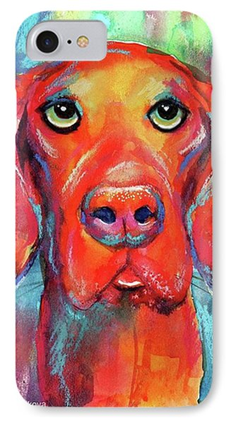 Colorful Vista Dog Watercolor And Mixed IPhone Case