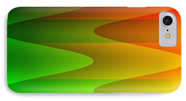 IPhone Case featuring the digital art Colorful Waves by Kathleen Sartoris