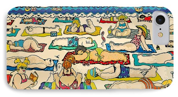 Colorful Whimsical Beach Seashore Women Men IPhone Case by Rebecca Korpita