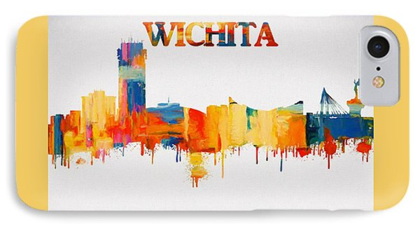 Colorful Wichita Skyline Silhouette IPhone Case