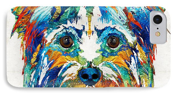 Colorful Yorkie Dog Art - Yorkshire Terrier - By Sharon Cummings IPhone Case