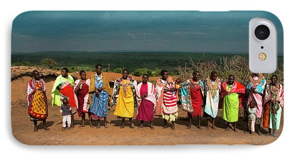 IPhone Case featuring the photograph Colors And Faces Of The Masai Mara by Karen Lewis