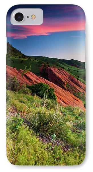 IPhone Case featuring the photograph Colors Of A Colorado Spring Sunrise by John De Bord