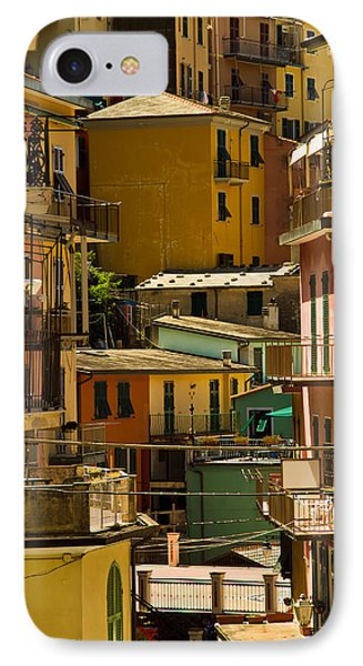 Colors Of Manarola Italy IPhone Case by Roger Mullenhour