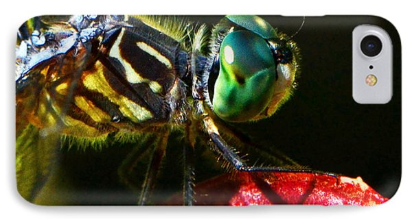 IPhone Case featuring the photograph Colors Of Nature - Dragonfly On A Pitcher Plant 007 by George Bostian