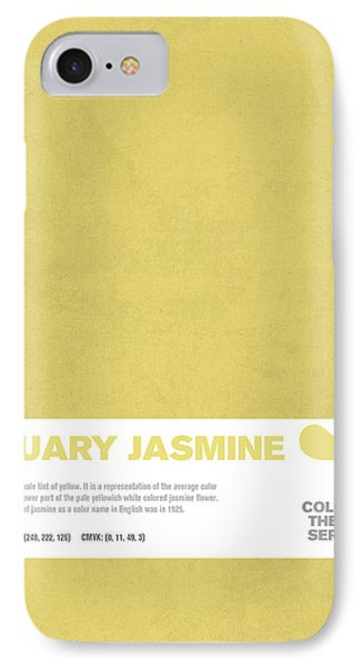 Colors Of The Year Series 01 Graphic Design January Jasmine  IPhone Case
