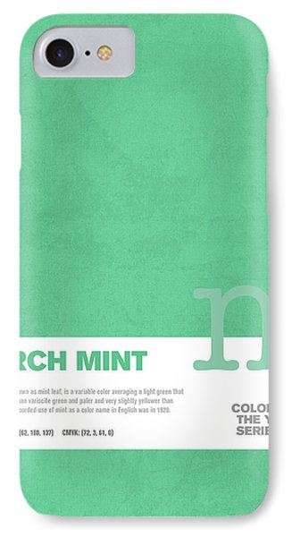 Colors Of The Year Series 03 Graphic Design March Mint IPhone Case