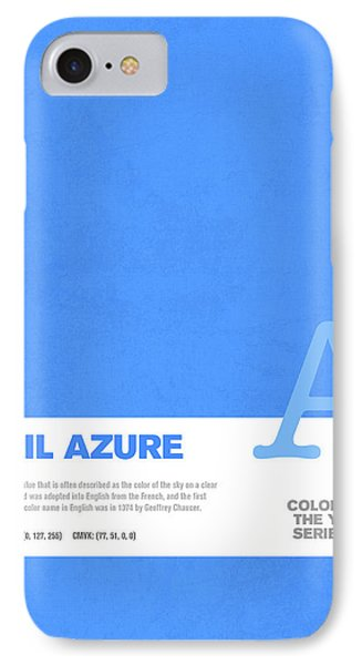 Colors Of The Year Series 04 Graphic Design April Azure IPhone Case