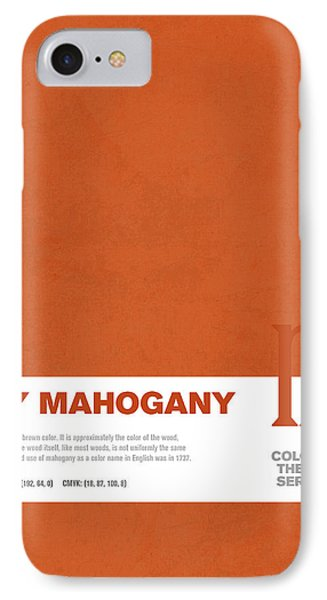 Colors Of The Year Series 05 Graphic Design May Mahogany IPhone Case