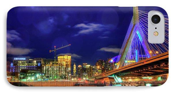 IPhone Case featuring the photograph Colors Of The Zakim Bridge - Boston, Ma by Joann Vitali