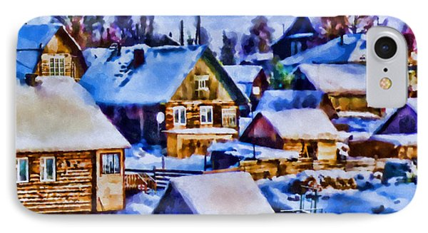 Colors Of Winter Evening IPhone Case