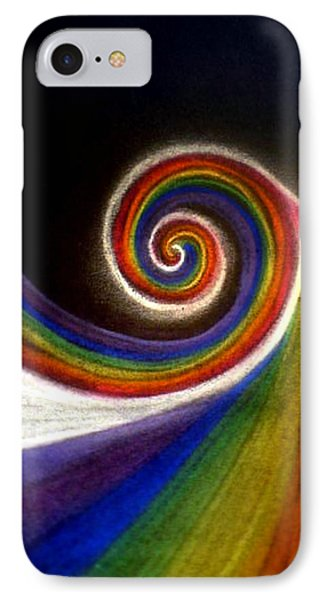 Colorswirl Of Creation IPhone Case by Ahonu