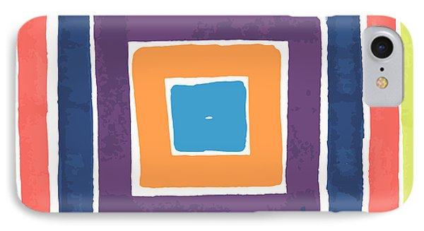 Colory Tile IPhone Case by Jill Lenzmeier