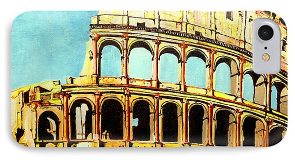 IPhone Case featuring the painting Colosseo by Daniel Janda