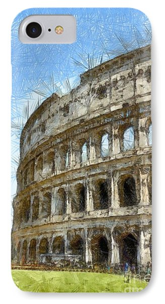 Colosseum Or Coliseum Pencil IPhone Case